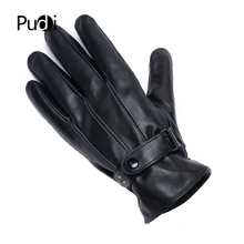 PUDI mens genuine leather glove 2019 brand new real sheep fashion winter warm gloves gl901