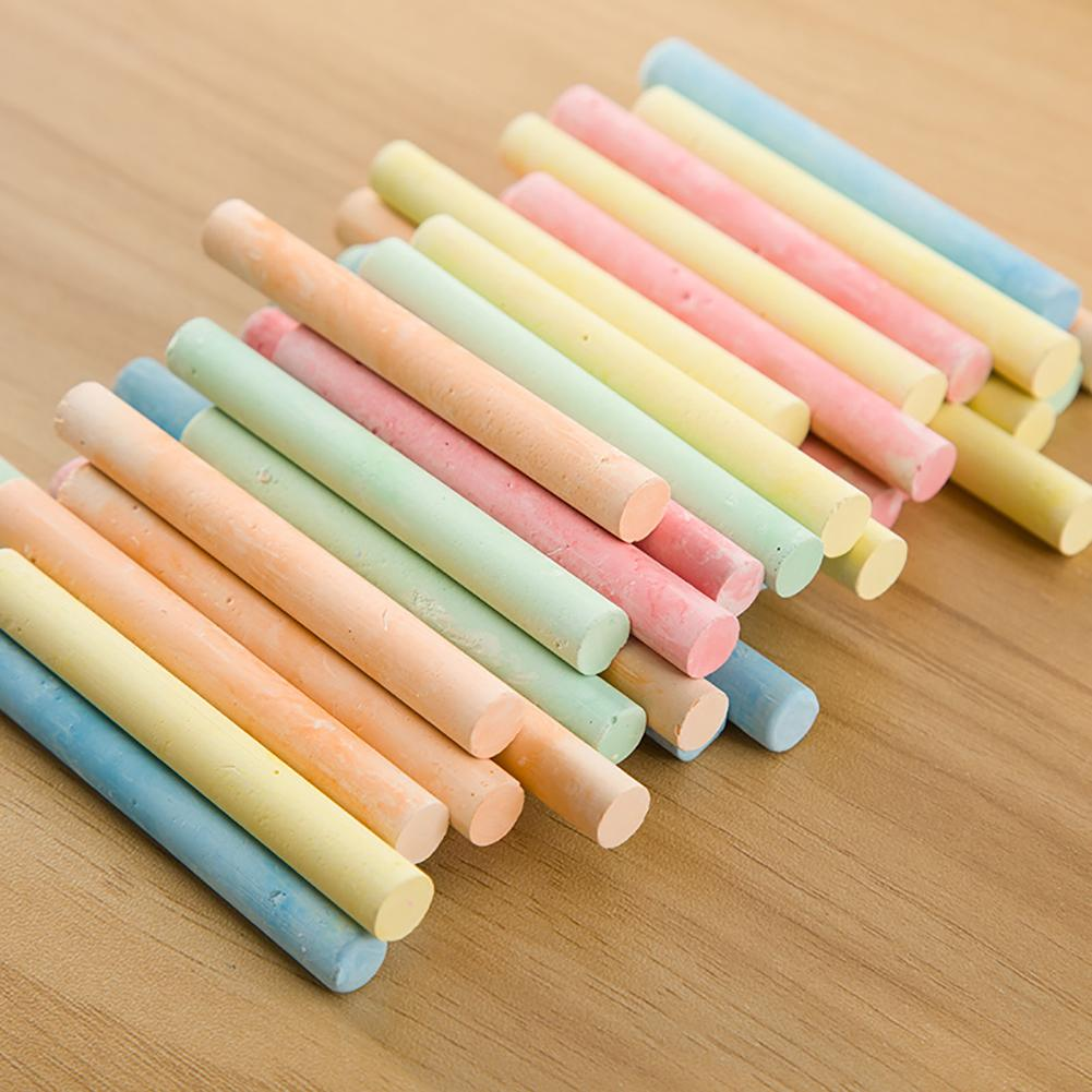 100 Sticks Plaster Dustless Eco-friendly Drawing Painting Art Colorful Chalk Easy to Color School Office Supplies