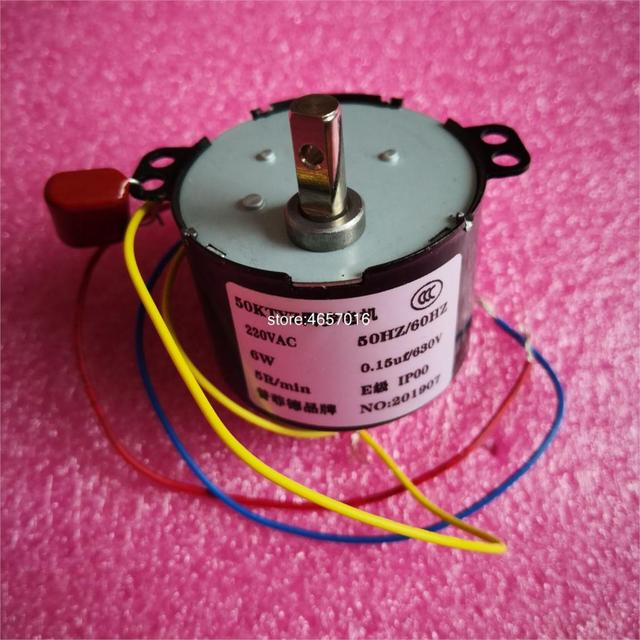 1PCS 50KTYZ 220V AC 6W  1RPM/2.5 RPM / 5RPM / 10RPM / 15RPM / 30RPM / 50RPMPermanent Magnet Synchronous Gear Motor
