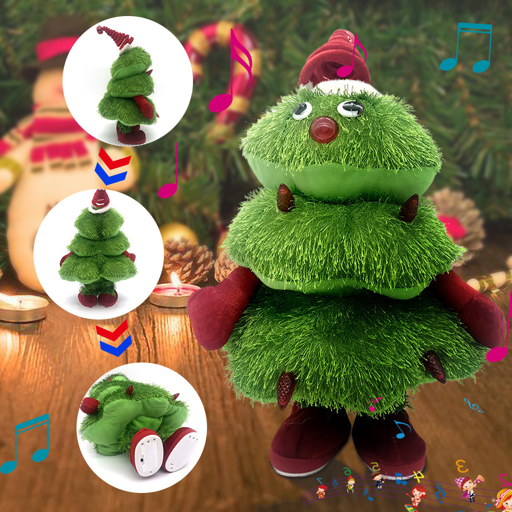 Singing And Dancing Christmas Tree Plush Toy  Holiday Doll Toys Children's Gift Children's Educational Toys Jouets éducatifs#3