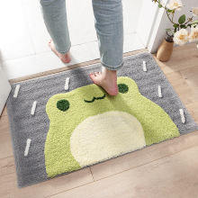 Frog mat and Bear mat  Flocking Bath Mat Home Decoration Door Mat Non-slip Absorbent Bathroom Doormat Super Soft Fiber Bath Rug cute cartoon bathroom mat absorbent home environmental protection flocking mat door mat bedroom anti slip rug