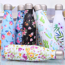 304 Stainless Steel Bottle Mug Printing Fashion Cup Printed Water Vacuum Insulated Thermal Sport Casual