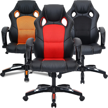 Adjustable Leather Office Chair Ergonomic Gaming Chair Swivel Reclining Executive Padded Footrest Chair Breathable Chair Covers giantex pu leather ergonomic office chair armchair executive chair boss lift chair swivel chair office furniture hw50391