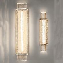Jmzm lâmpada de parede cristal moderna translúcido luz luxo fundo fixado na parede luz sala estar quarto conduziu a iluminação cabeceira