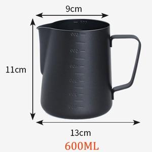 Image 3 - 테플론 스테인레스 스틸 우유 Frothing 주전자 에스프레소 커피 투수 바리 스타 크래프트 커피 라떼 우유 Frothing 주전자 커피 투수