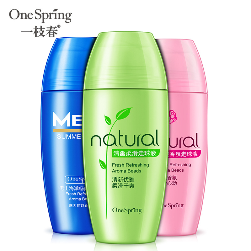 OneSPring Natural Ball Body Lotion Antiperspirants Underarm Deodorant Roller Roll On Bottle Fragrance Dry Perfumes Refreshing