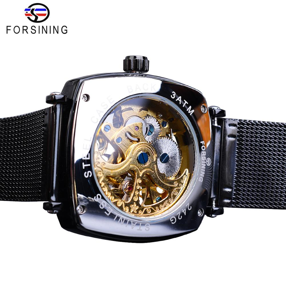 Jaragar Retro Luxury Classic Design Genuine Leather Belt 3 Dial Roman Number Men Automatic Watch Top Brand Mechanical Wristwatch