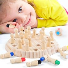 New Wooden Memory Match Stick Chess Game Kids Fun Block Board Game Educational Color Cognitive Ability Family Toy juegos de mesa(China)