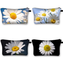 Monet Water Lily Sunflower Daisy Printing Cosmetic Bag Women Makeup Bags Beauty Bag