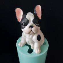 PRZY silicone 3D cute dog mold handmade big mould cake decoration candle pubby molds DIY animal