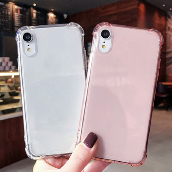 Phone Case For Iphone 7 8 Plus X XR XS Pro 11 Pro Max 2020 Transparent With Luxury TPU Silicone Airbag Shockproof Back Cover image
