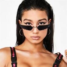 KUJUNY Fashion Frameless Cat Eye Sunglasses For Women Unique Wings Sun Glasses M