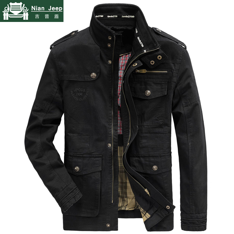 Spring Autumn Jacket Men 100% Cotton Business Casual Cargo Military Multi-pocket Mens Jackets and Coat Male Chaqueta Hombre