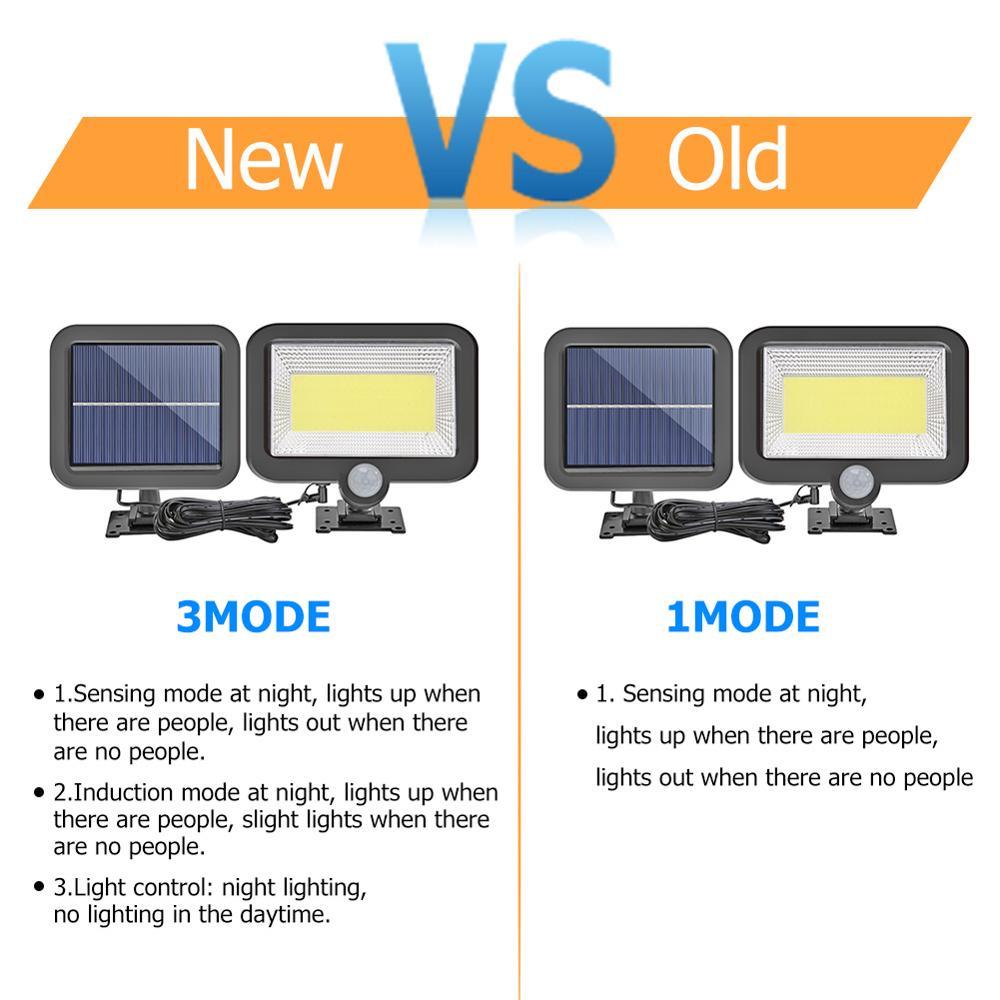 COB 100LED Solar Lamp Motion Sensor Waterproof Outdoor Path Night Light Support Outdoor Night Lighting Dropshipping