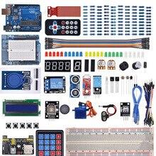 ערכת המתחילים Arduino Uno R3 טיפוס/קולי חיישן/סרוו/1602 LCD/מגשר חוט/UNO R3 עם הדרכה