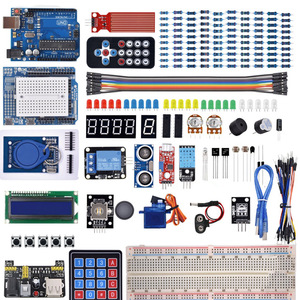 Image 1 - Startowy zestaw do Arduino Uno R3 deska do krojenia chleba/ultradźwiękowy/czujnik ultradźwiękowy/serwo/1602 LCD/kabel mostkujący/UNO R3 z samouczka