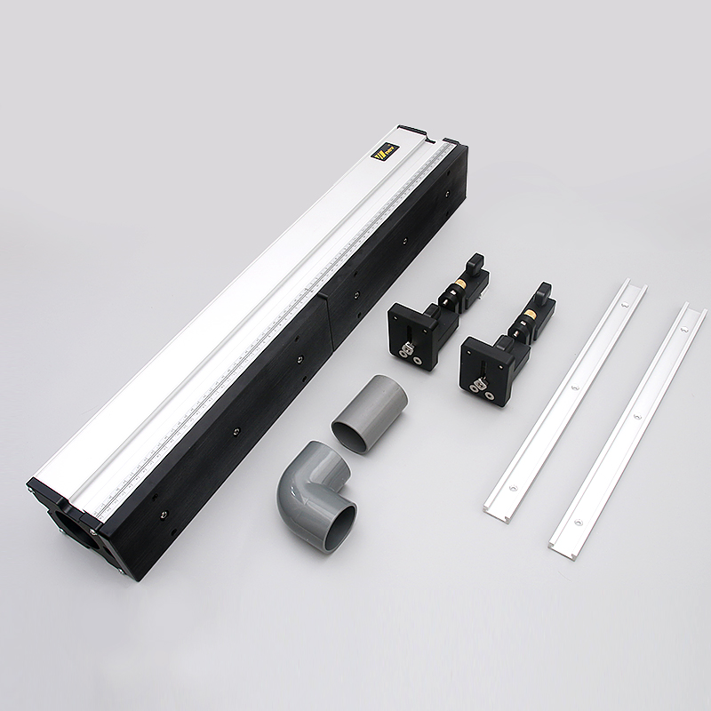 Aluminium Profile Fence with Scale and Sliding Brackets Tools for Woodworking DIY Workbench (1 Set)