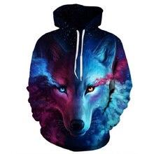 Wolf Printed Hoodie Men 3d Sweatshirt Boy Jackets Animal Streetwear Hip Hop Pullover Outwear Coat S-5XL