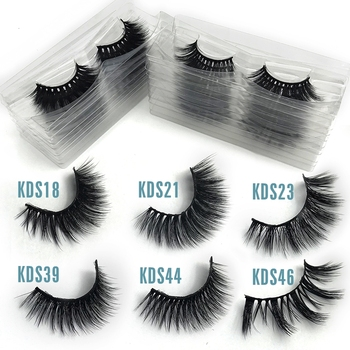 1Pair 3D Mink False Eyelashes 100% Cruelty Free Criss-cross Lashes Thick Natural Lashes Wispies Fluffy Lashes Makeup Extension