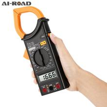цена на Mini Digital Clamp Meter Multimeter AC / DC DC AC Voltage Current Clamp Resistor Amplifier Ohm Tester Non-Contact Multimeter