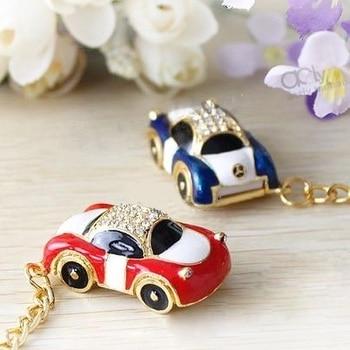 New Jewelry Key Chain Lovely Car Mini Usb Flash Drive 32GB Memory Stick Pendrive 1TB Car/Gift 16GB 64GB Pen Drive 2TB Flash Card