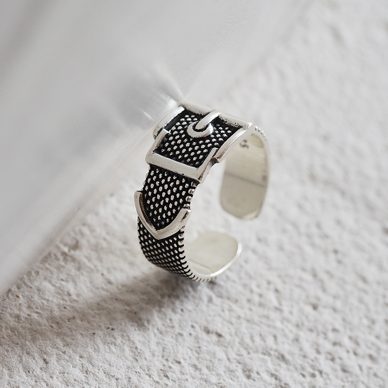 Vintage Silver Color  Belt Rings For Women Statement Jewelry Finger Ring anillos mujer bijoux 4
