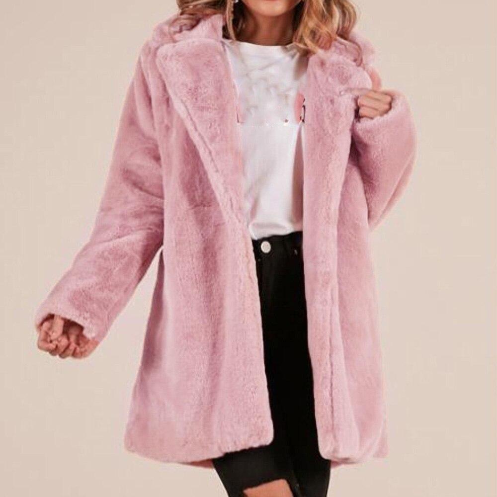 Wipalo 2019 Autumn Winter Plus Size Women Long Coat Solid Casual Warm Windproof Outwear With Pockets Long Sleeve Woolen   Trench