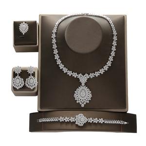 Image 3 - Jewelry Set HADIYANA Vintage Graceful Wedding Bridal Necklace Earrings Ring And Bracelet Set CN1192 Parure Bijoux Femme Mariage