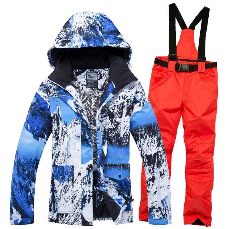 2019 capuche chaude veste salopette femme Ski Sutis Camouflage hiver costume pour femmes Ski Sport Snowboard femme neige vêtements-30