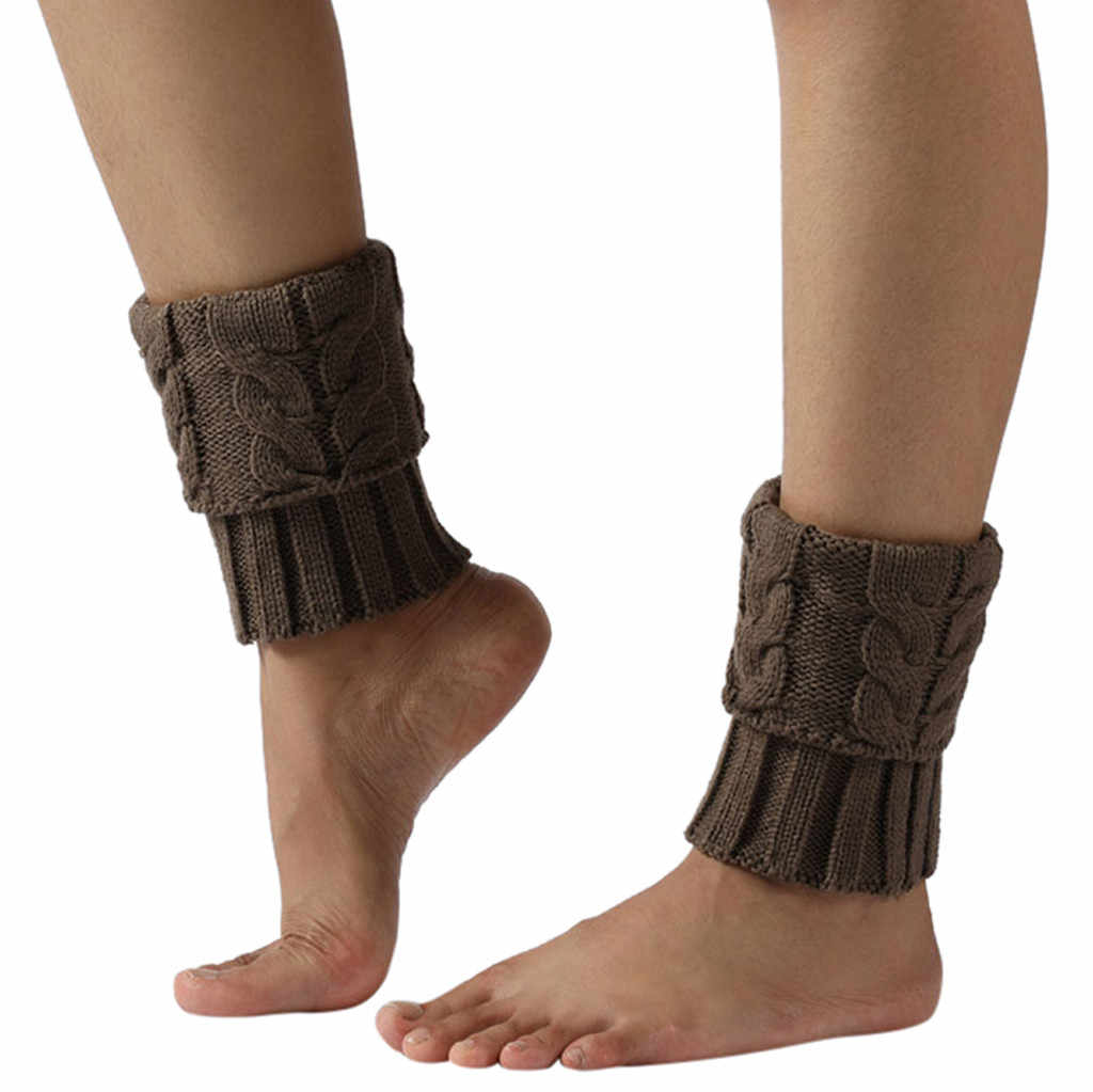1 para kobiety ciepłe zimowe dziergane ocieplacze do nóg szydełkowe legginsy Slouch Boot skarpetki s zimowe getry calcetines Mujer chausettes # ZC