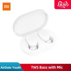 Original Xiaomi AirDots Youth Version TWS Wireless Bluetooth Earphone V5.0 Bass Stereo Handsfree Mini Sport Earbuds Mic