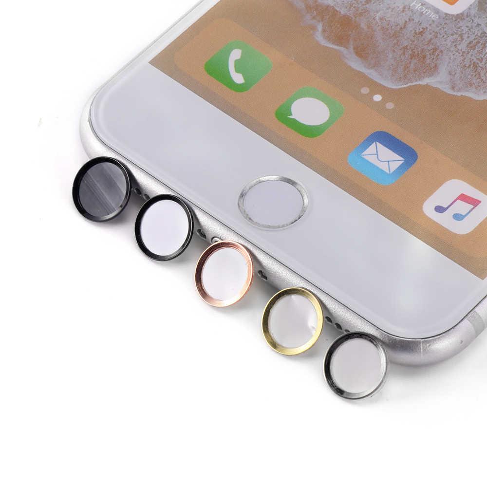 Colorful Fingerprint Desbloquear Tecla Sensível Ao Toque Para IPad Air Pro 2 ID Botão Home Adesivo Protetor de Teclado Keycap Para capas Para Iphone 4 7 6 6s Plus