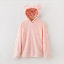 Hoodie Pullovers Sweatshirt Lovely With Bears Ears Solid Teddy Autumn Women Campus Casual Sweatshirts 7479