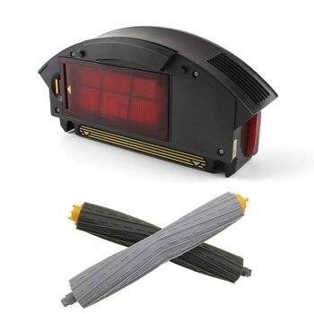 Hepa фильтр коробка для сбора пыли и одна пара передних и задних экстракторов мусора комплекты аксессуаров для IRobot Roomba 800900 серии 880