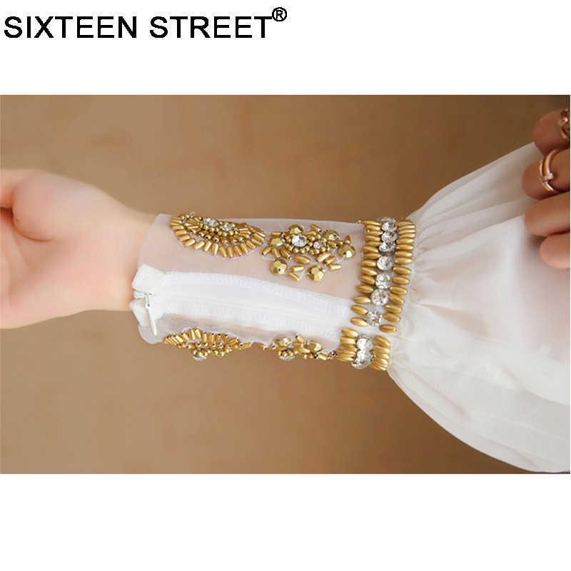 女性ドレス新ファッションエレガント vestidos 正式な韓国滑走路白パーティーロングマキシ春夏ドレス長袖秋 2020