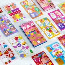 50 folhas/pacote bonito dos desenhos animados animais bobina adesivo livro criativo mão conta decoração colagem diy material adesivos