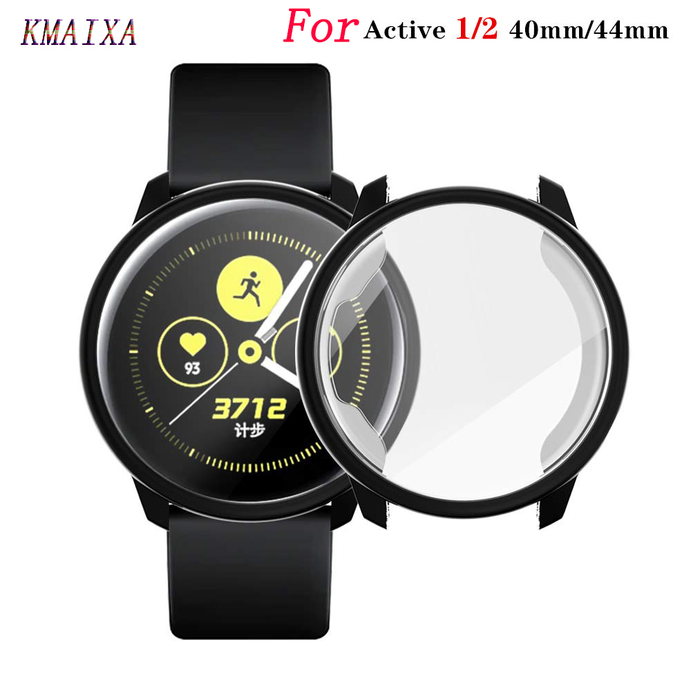 Screen Protector+Case For Samsung Galaxy Watch Active 2 44mm 40mm TPU All-Around Cover Bumper+film Watch Active2 Accessories