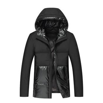 2019 nueva ropa para hombre gruesa abrigo de ocio invierno sombrero moda abajo ropa a prueba de frío abrigo 90% abajo
