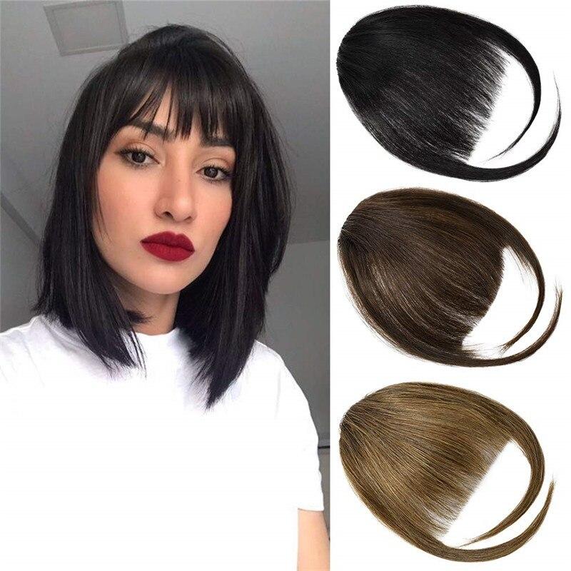 Kong & Li белые черные коричневые золотые накладные челки с зажимом в тупой челке синтетические волосы для наращивания с высокотемпературным в...