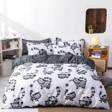 Cat pattern duvet cover children 135x200 150x200 Pillowcase 3pcs duvet cover set bedding set quilt cover