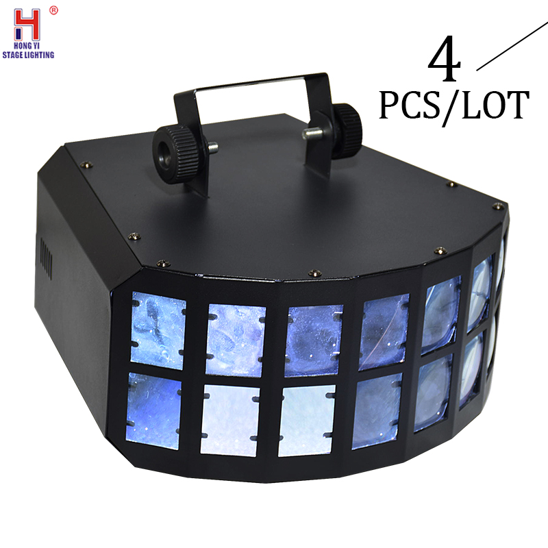 LED Stage Effect Beam Lights 4x10W Double Butterfly Effect Lighting Disco Clubs Professional Stage Dj Light (4pcs/lot)