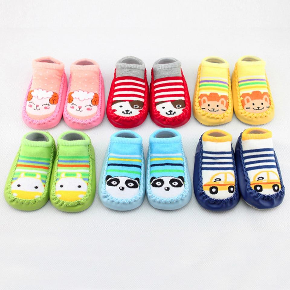 Mousmile Baby Booties Cute Christmas Sock Shoes Winter Warm Fleece Non Slip Prewalker Floor Slipper for Boys Girls
