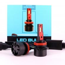 цена на 90W 10000LM F3 H4 H7 H8 H11 h13 Car LED Headlights Bulb Fog Light H7 H11 H8 9005 9006 H1 880 Car LED Headlamp Kit