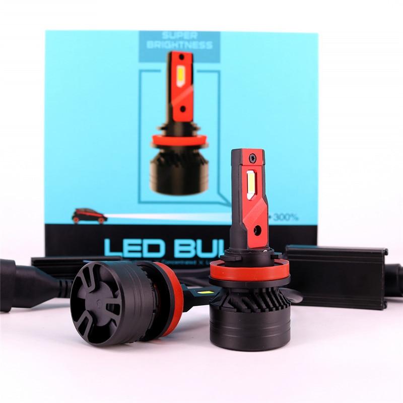 90W 10000LM F3 H4 H7 H8 H11 h13 Voiture LED Phares Ampoule Antibrouillard H7 H11 H8 9005 9006 H1 880 phare de voiture LED Kit