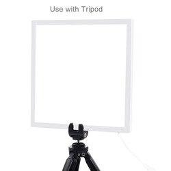 Mini LED Photography Shadowless Light Lamp Panel Pad Acrylic Board 20x20cm VH99