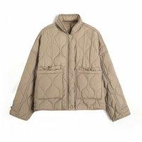 Pantalón corto de invierno Casual de las mujeres chaqueta Parkas suelto las mujeres abrigo ligero Delgado Streetwear chaqueta mujer Chic Ropa