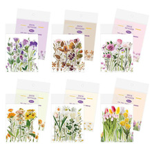 40pcs Pack Of Fresh And Transparent Flower Stickers DIY Travel Diary Scrapbook Items Decorative Stickers Children #8217 S Stationery cheap ALSMT A3607 3 years old irregular pvc sticker 90*105mm 1 pack = 40 pieces (20 styles * 2) Decoration office stationery gifts