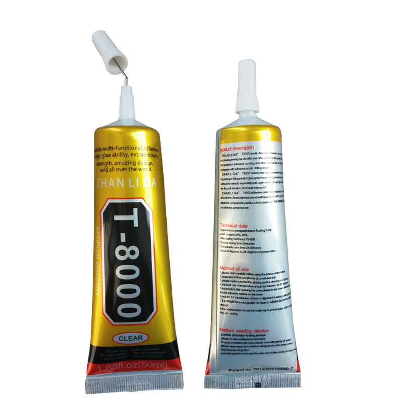15ML MultiPurpose T-8000 Industrial Adhesive Jewerly Craft Rhinestone And Nail Gel T8000 Diy Phone Frame Fix Screen Glass Glue