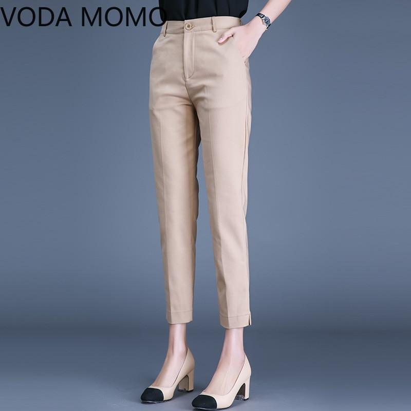 OL office work wear summer 2020women's pants female high waist suit pencil pants capris for women trousers woman Plus size