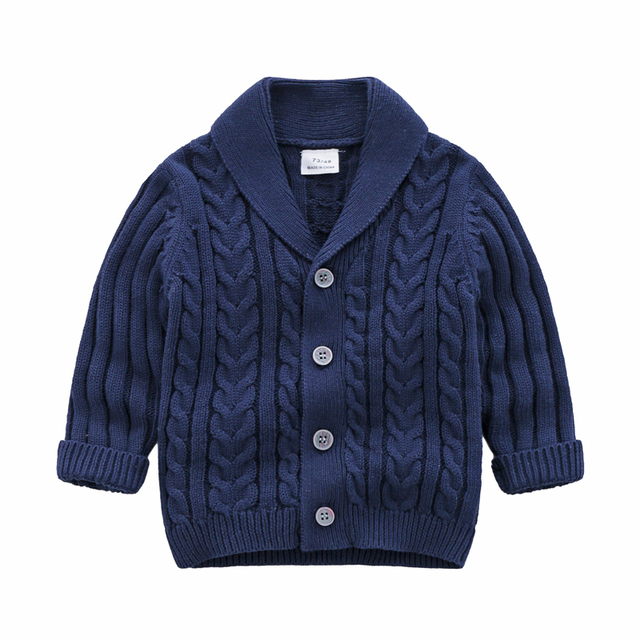 lioraitiin 0-3Years Autumn Winter Children Cardigan Coat Boy Girls Knitted Sweaters Cotton Baby Single-Breasted Jacket 2